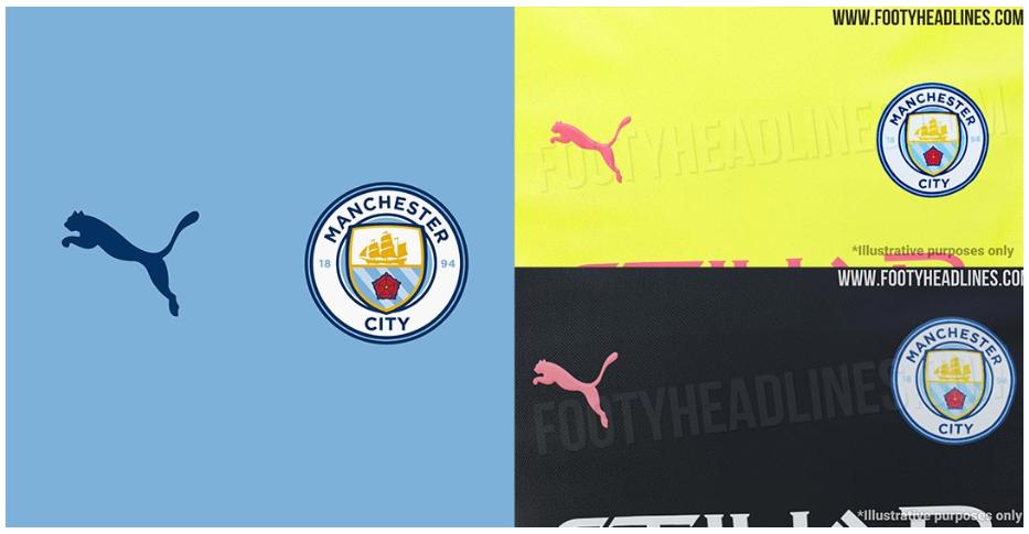 No más Nike: se filtró la información de Puma Manchester City 19-20 de Kits de local, visitante y tercero.