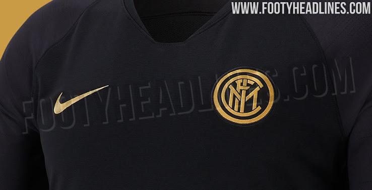 Pista en los kits de la próxima temporada – Negra / Dorada Colección de entrenamiento Inter Milan 19-20 perdida